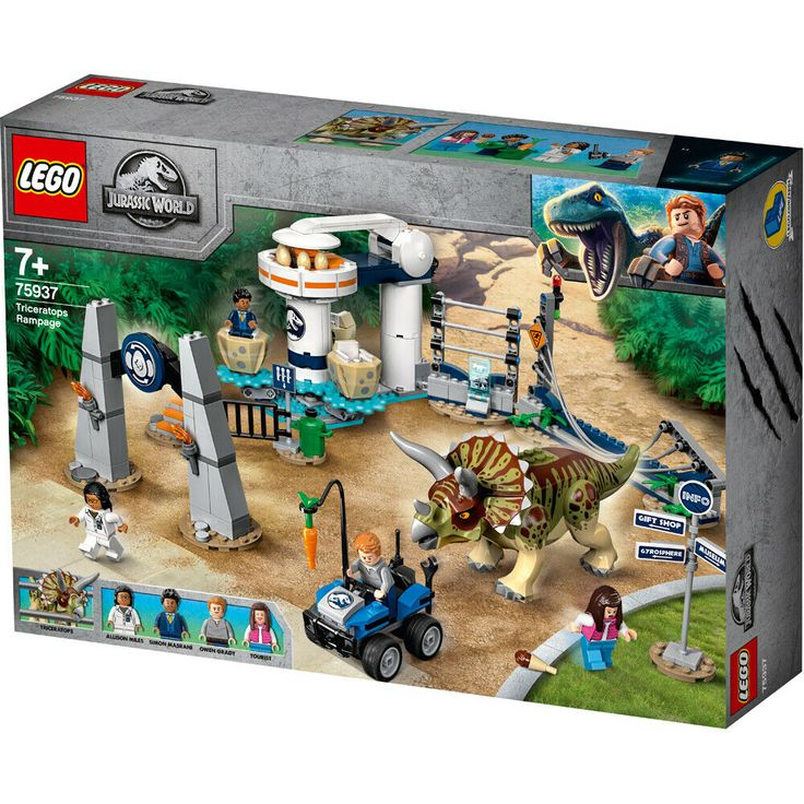 Lego JURASSIC WORLD Triceratops Rampage Building Set