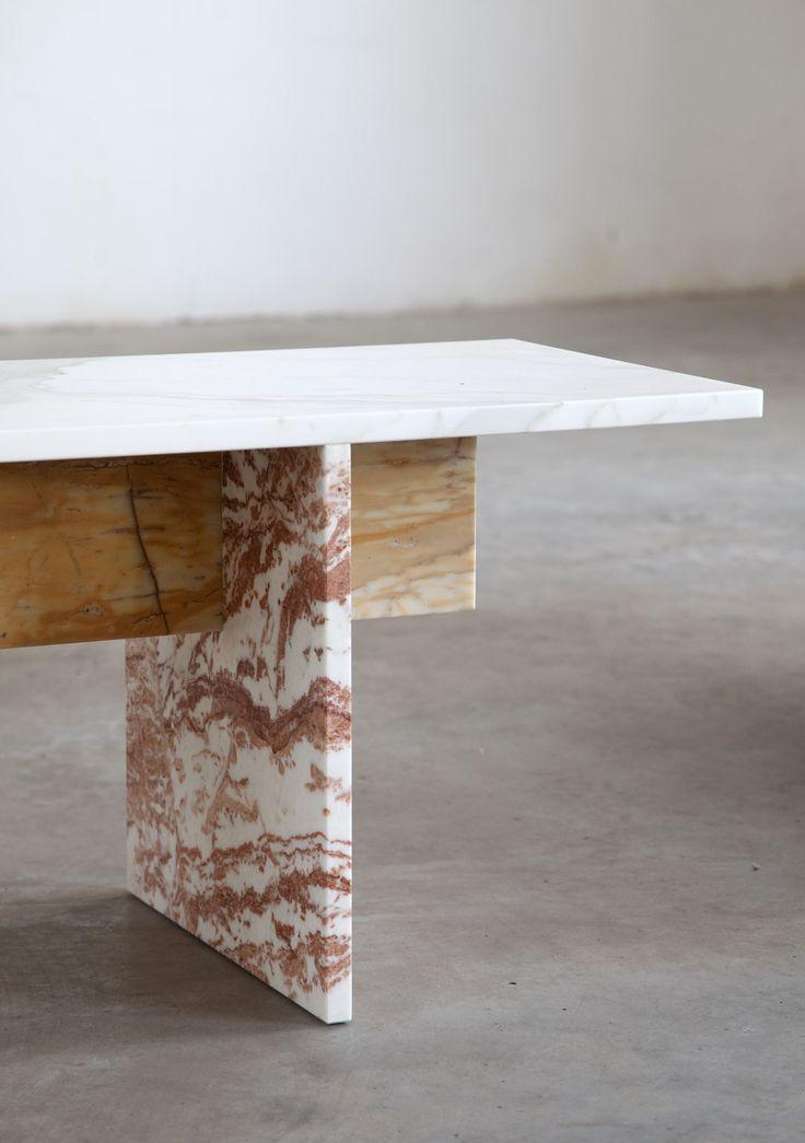"thisispaper: "" Muller Van Severen designes multi-color marble bench """
