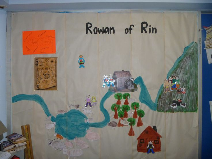 Rowan of Rin Create a Rowan of Rin wall with your students and follow the characters up the mountain on their journey!