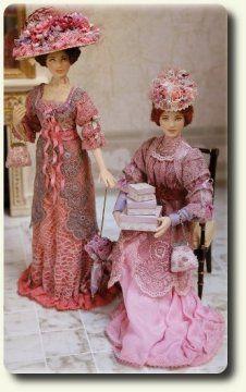 Dollhouse Dolls: Two Fine Ladies of Quality
