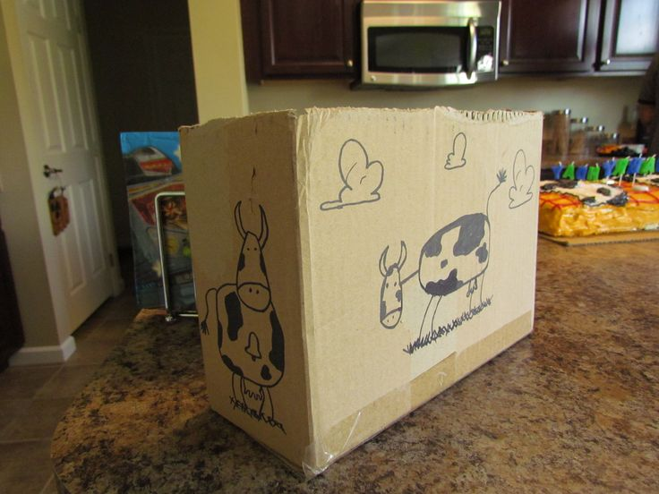Western Bedroom Tank Toy Box Or: Toy Story Birthday: Draw Cows Like Andy Did On A Cardboard