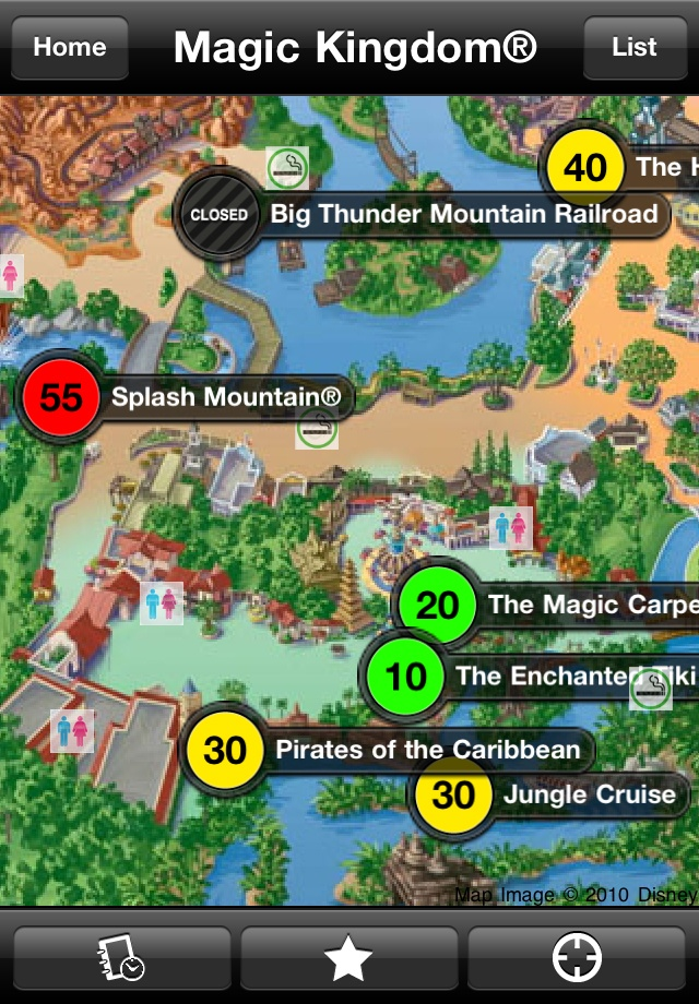 I am thankful for the undercover tourist app. it helps me plan my day at the parks..