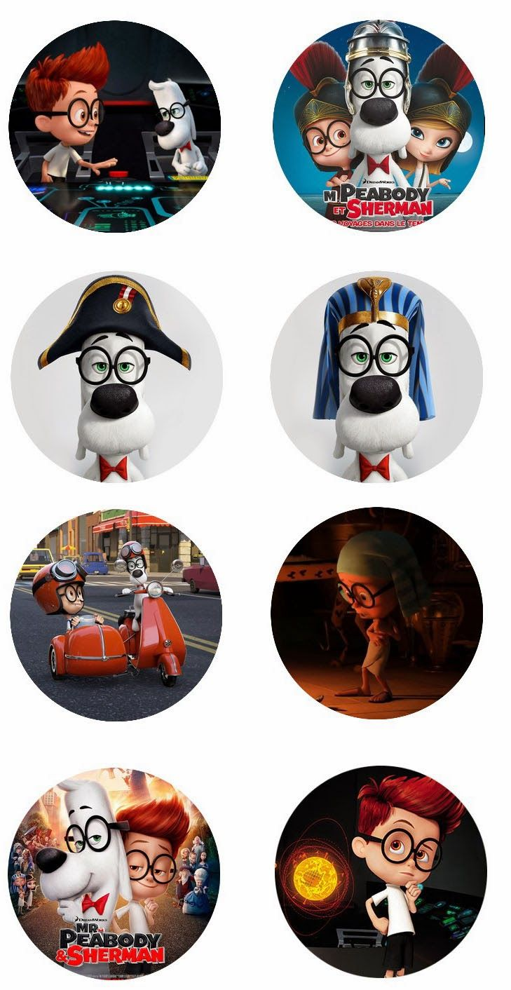 Mr.Peabody and Sherman Clip Art Free