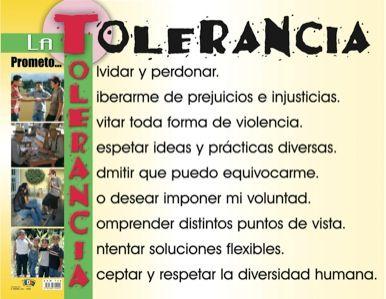 La tolerancia: acróstico                                                                                                                                                                                 Más