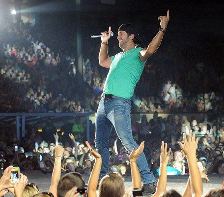 Country singer Luke Bryan performs at The Great Allentown Fair Friday night.