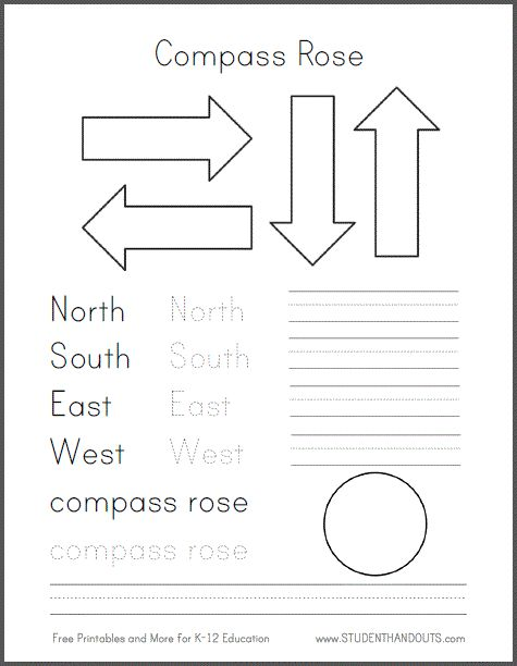 Printables Second Grade History Worksheets 1000 ideas about cardinal directions on pinterest map skills diy compass road for primary grades social studiesgeography free template to create a
