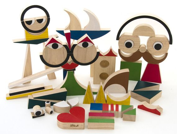PlayShapes 74 Wooden Blocks