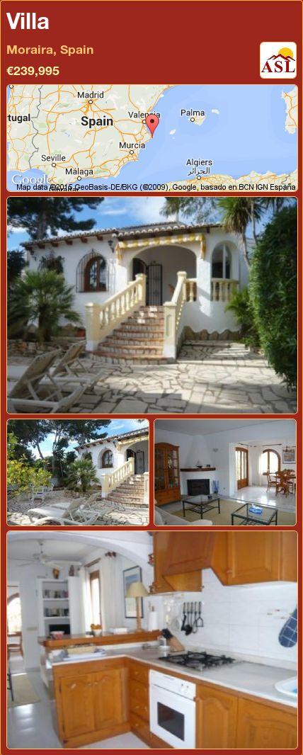 Villa in Moraira, Spain ►€239,995 #PropertyForSaleInSpain