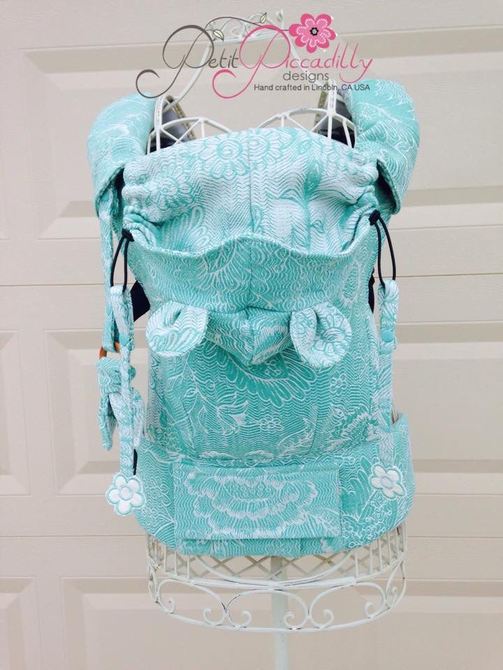 Pavo Etini Spearmint (Customized by PETIT PICCADILLY) Tula Baby Carrier
