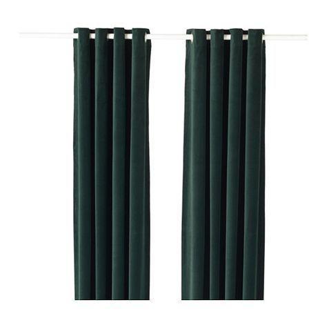 SANELA Gardinenpaar IKEA Die Gardinen Aus Schwerem Stoff Schirmen Licht Effektiv Ab Und Verhindern Einblick Von