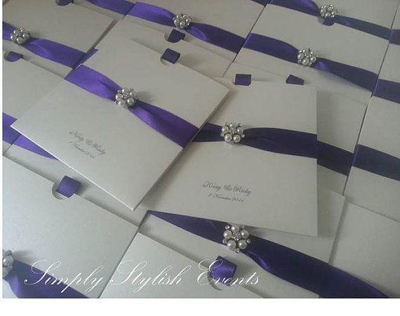 Luxury handmade Princess Pearl Wedding by StylishStationery