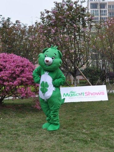 グッドラックベア着ぐるみ 緑の熊着ぐるみ 熊着ぐるみ 緑 青い熊 きぐるみ http://www.mascotshows.jp/product/green-bear-mascot-adult-costume.html