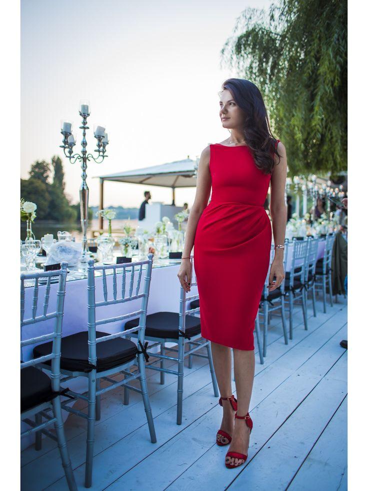 RED DRAPED DREAM - Rhea Costa-Shop