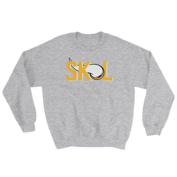 f38ea4cd5 SKOL VIKINGS Sweatshirt Minnesota Vikings Custom Warm Crew ...