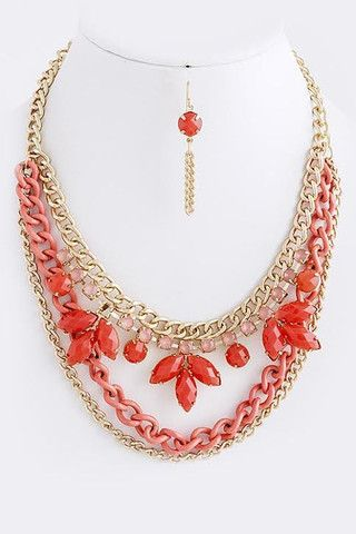 Collier Multi, 35 $  http://www.shop-vlb.com/collections/cynthia-du/products/multi-collier  #coral #necklace #collier #été #summer #candy #trendy