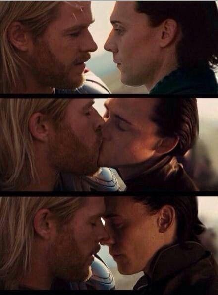 Thor x Loki,omg,kiss