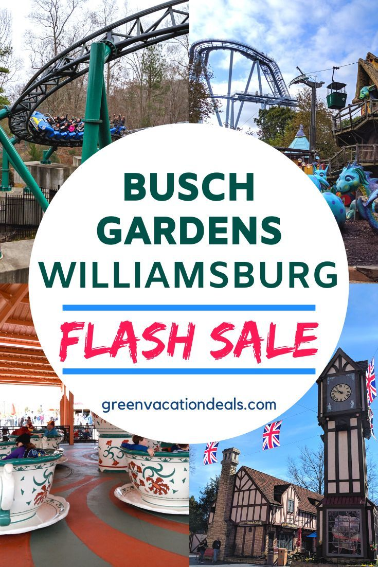Busch Gardens Williamsburg 1 Day Pass