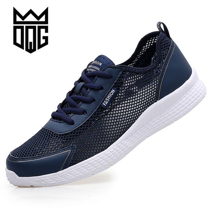 DQG Summer Men Lightweight Sneakers Running Sport Shoes Outdoor Breathable Mesh Men Walking Shoes Zapatilla Big size 38-48 #Affiliate