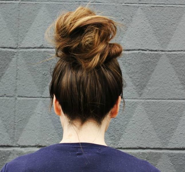 Master the topknot with this tutorial.