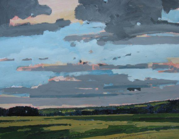 """Original Landscape Paintings by Harry Stooshinoff """"After the Rain"""""""