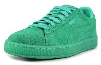 Puma Suede Classic Ice Mix Jr Youth Round Toe Suede Green Sneakers.