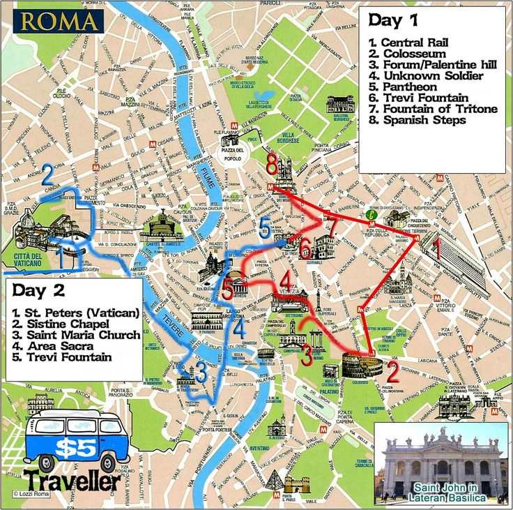 How to see Rome in a hurry, our Two day sightseeing whirlwind!Five Dollar Traveller