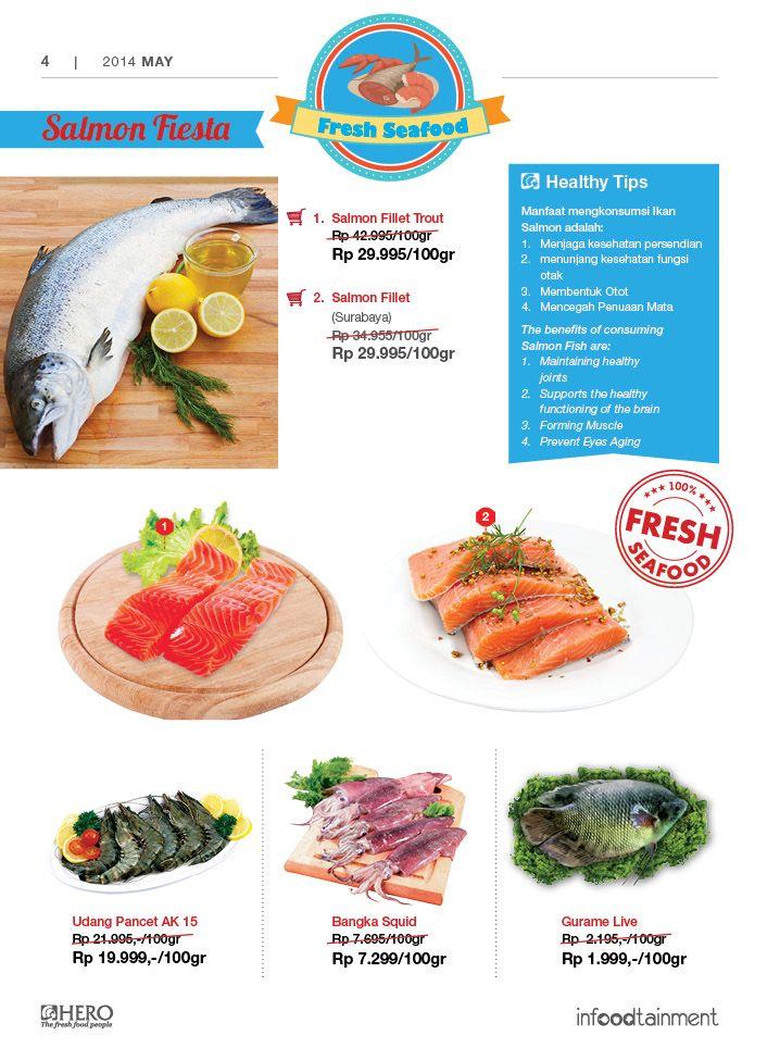 Fresh People, dapatkan berbagai Fresh Seafood dengan harga ekonomis hanya di Hero Supermarket. #MailerHero