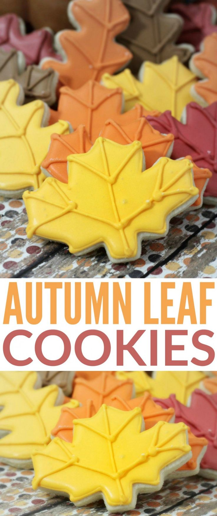 These autumn leaf cookies are almost too pretty to eat. Thankfully this sugar…