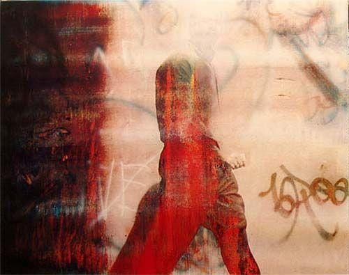 Jeff Hinch Collection: Robert Boynes, 'Yawning Man' 2002 acrylic on canvas 120 x 150cm