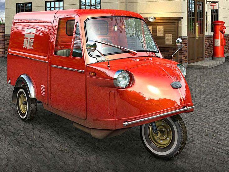 daihatsu midget - in postal service red