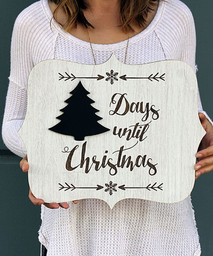 Take a look at this 'Days Until Christmas' Chalk Countdown Wall Sign today!