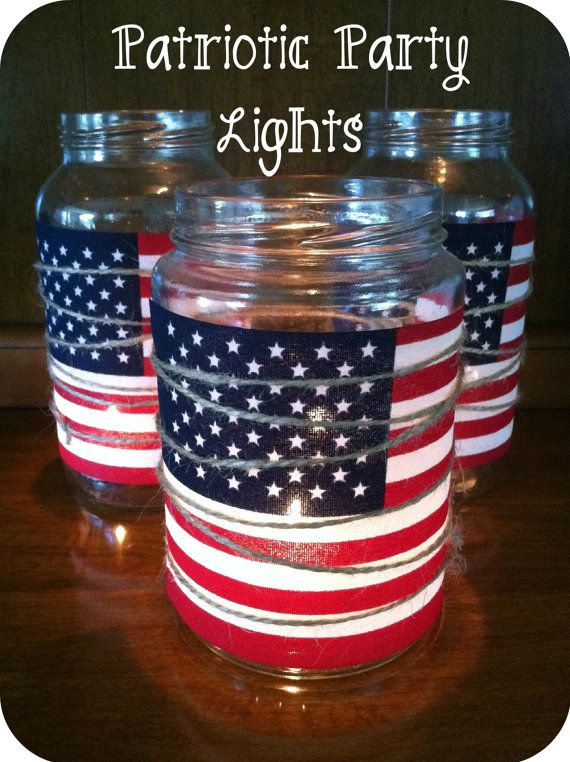 Patriotic Party LightsSet of 3 by TheRustBarn on Etsy, $16.00