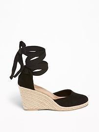 46d261e6fee Faux-Suede Espadrille Wedges For Women in 2019 | sandals ...