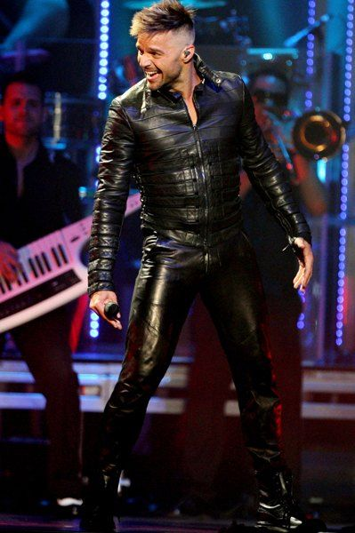 Ricky Martin In Leather Bring My Boys Pinterest