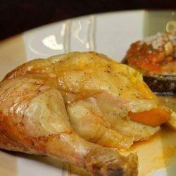 Курица запеченная с апельсином