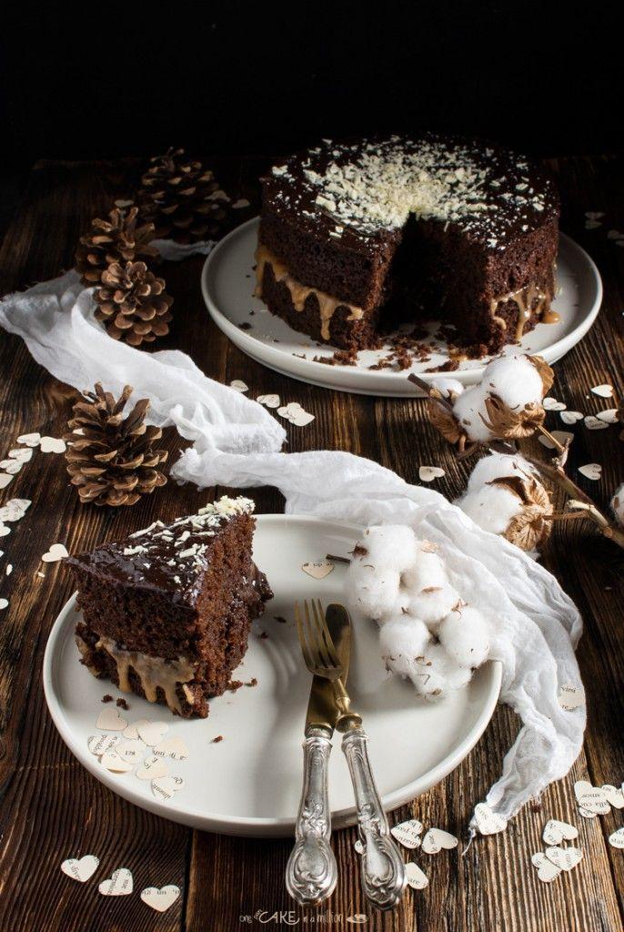 Torta al cioccolato e caramello salato _ Chocolate cake with salted caramel
