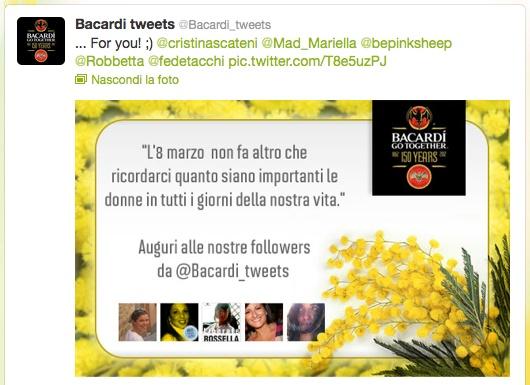 La festa delle donne per @Bacardi_tweets!