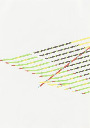 LINE In this photo by Tomma Abts. the picture is completely made out of lines going in different directions.  Abts., T. (2013, January 14). Untitled. Retrieved September 14, 2015, from http://www.moma.org/collection/works/187692?locale=en
