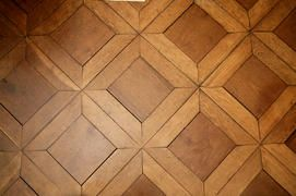 Since visited many fine houses in France, he may have been inspired to make a modified version of parque de Versailles. Monticello parlor parquet floor- Google Search