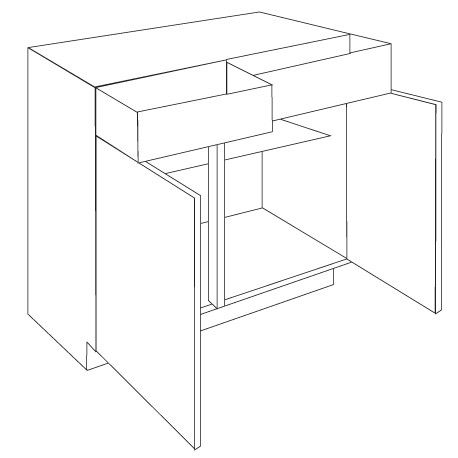 Drawer Line Base Unit Lacarre Gloss - Simple click together complete kitchen units. Easy to assemble and install not fuss, no stress.