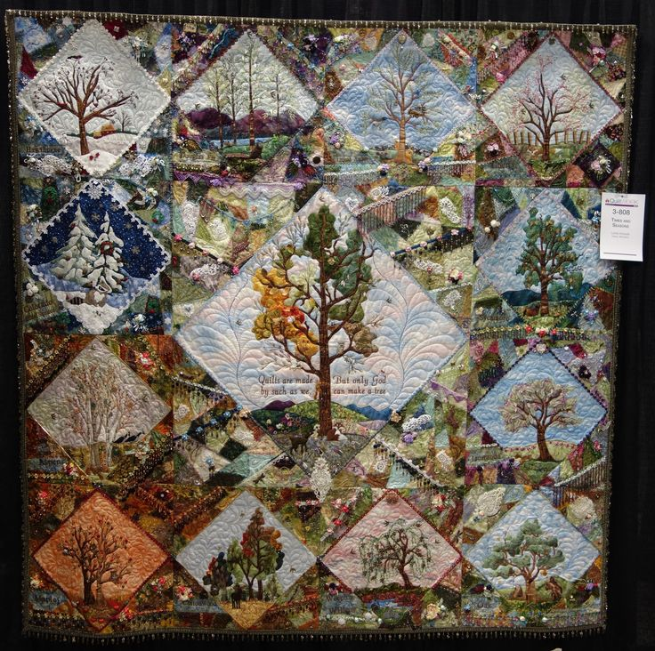 """""""Times and Seasons"""" - Lorrie Hockett, Quilted: Carol Mosley"""