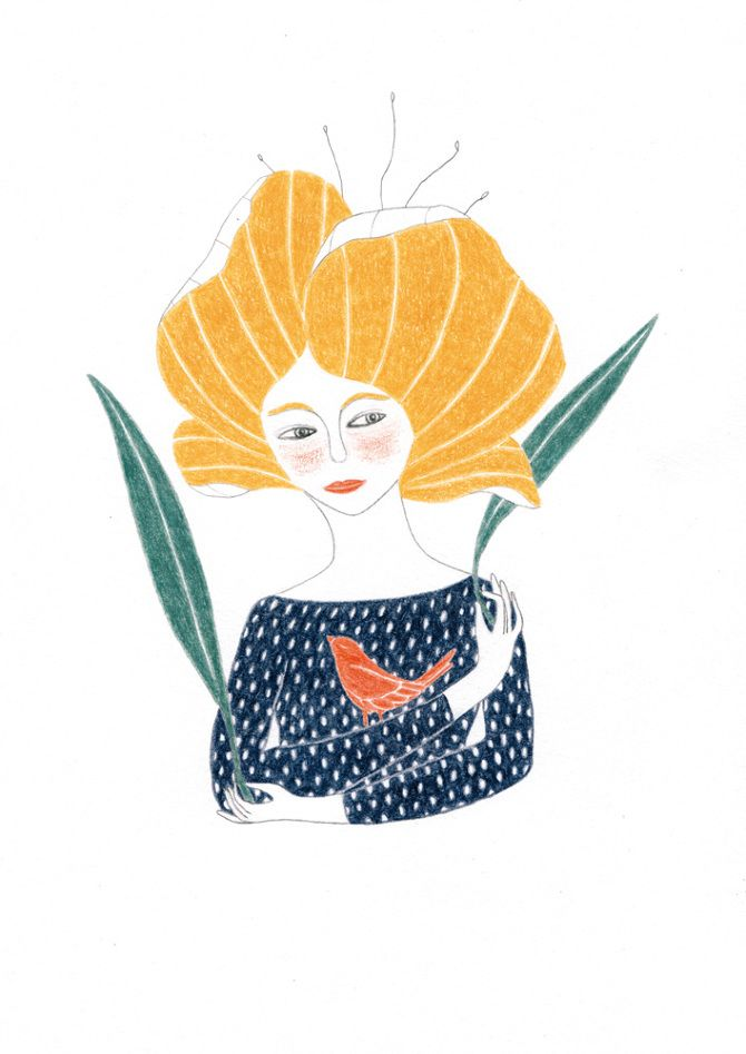 flor - valeria cardetti illustration