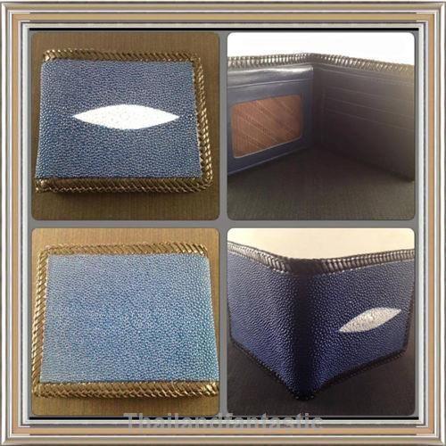 Blue Clutch Brown Knit Wallet Genuine Stingray Leather Skin Bag Purse Bifold Men  Price:US $64.99  http://www.ebay.com/itm/161898849324  #ebay #paypal #Thailandfantastic #Blue #Clutch #Brown #Knit #Wallet #Genuine #Stingray #Leather #Skin #Bag #Purse #Bifold #Men #fashion