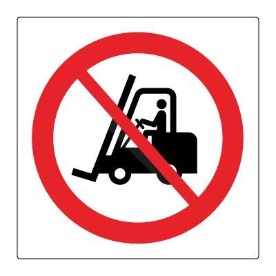 Forbudt for industrikjøretøyer - Kjøp Forbudsskilt her