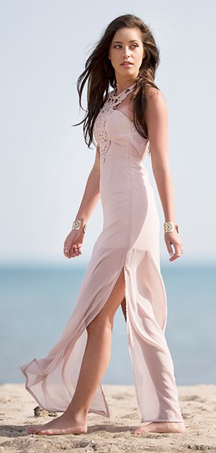 Blush dress #dress #fashion