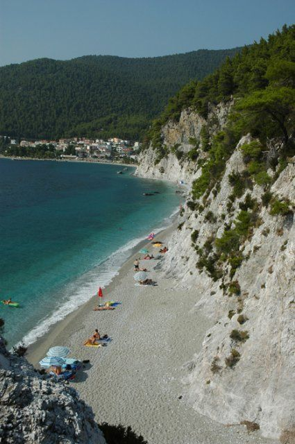 Hovolos beach in Skopelos