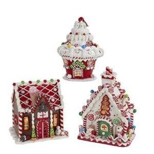 Kurt Adler Gingerbread LED House Table piece