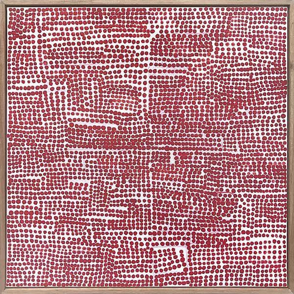 Shane Drinkwater  Red story 2017  acrylic on canavs 51 x 51cm