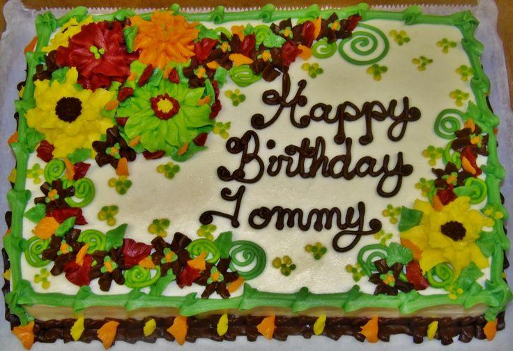 Birthday Cake With Buttercream Flowers