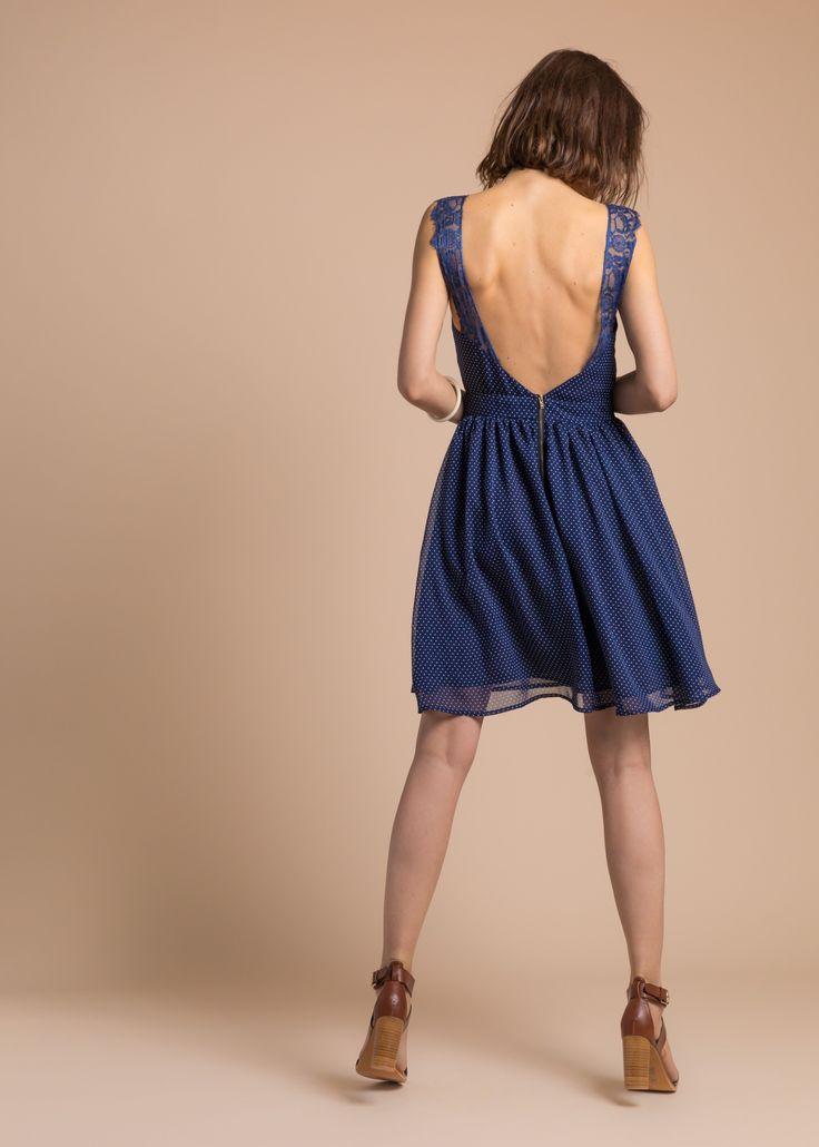 Collection PE 17 | La petite étoile robe dos V  détail dentelle dos plongeant  dos ouvert  chic classique  casual wear  casual chic